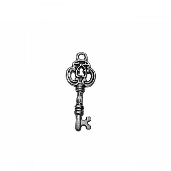 Μεταλλικό Μίνι Ασημί κλειδί