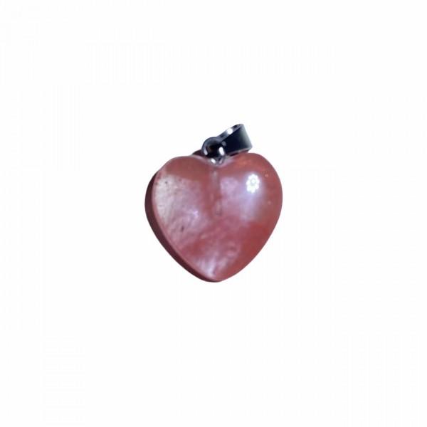 Καρδιά Μεσαία Strawberry Quartz