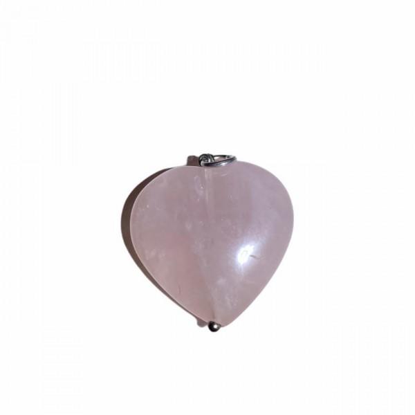 Καρδιά Ροζ Χαλαζίας Μεγάλο Μέγεθος