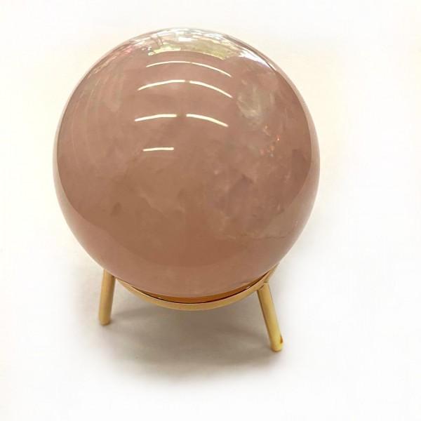 """Κρυστάλλινη Σφαίρα Μαντείας """"Ροζ Χαλαζίας"""" 15cm"""